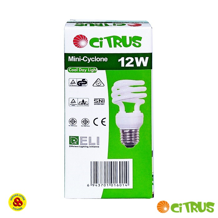 LAMPU MINI CYCLONE CITRUS 12W E27 CDL